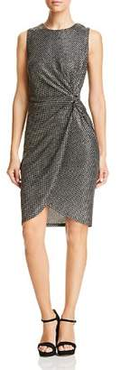 T Tahari Printed Metallic Dress