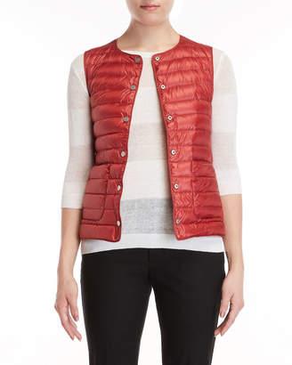Peserico Raspberry Reversible Puffer Down Vest