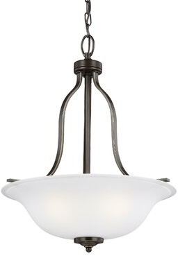 Darby Home Co Burhall 3-Light Bowl Pendant Darby Home Co