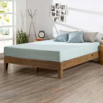 Zinus Deluxe Solid Wood Platform Bed, Multiple Sizes, Multiple Colors