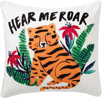 Pottery Barn Teen Jungle Fever Tiger Pillow Cover, 18x18