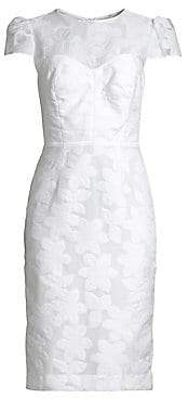 Milly Women's Carolina Floral Cap-Sleeve Sheath Dress - Size 0