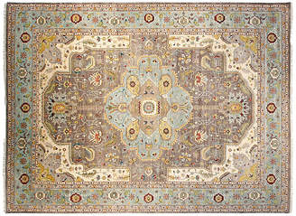 F.J. Kashanian 9'x12' Sari Wool Capri Rug - Gray/Aqua