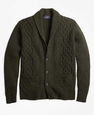 Brooks Brothers Braemar for Cable Shawl Collar Cardigan