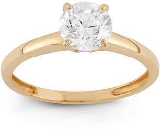 FINE JEWELRY Diamonart Womens 1 CT. T.W. Lab Created White Cubic Zirconia 10K Gold Engagement Ring