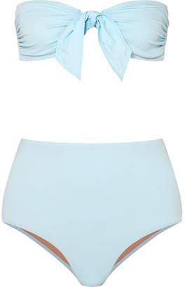 Three Graces London - Jackie Knotted Bandeau Bikini - Sky blue