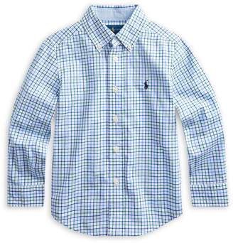 Ralph Lauren Childrenswear Little Boy's Plaid Cotton Collared Shirt