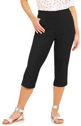 RealSize Womens 2-Pocket Stretch Capri Pants