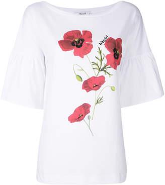 Blugirl floral print balloon sleeve T-shirt