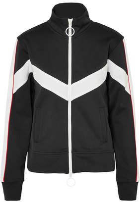 Off-White Striped Satin-jersey Track Jacket - Black