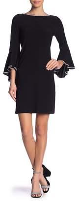 MSK Bell Sleeve Rhinestone Dress