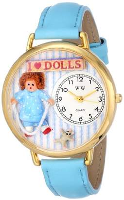 Whimsical Watches Unisex G0220001 Doll Lover Baby Blue Leather Watch