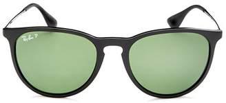 Ray-Ban Unisex Polarized Erika Round Sunglasses, 54mm