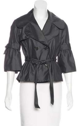 Robert Rodriguez Double-Breasted Belted Jacket