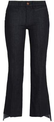 MiH Jeans Marrakesh Frayed Mid-Rise Kick-Flare Jeans