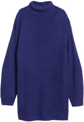 H&M Long Mohair-blend Sweater - Purple