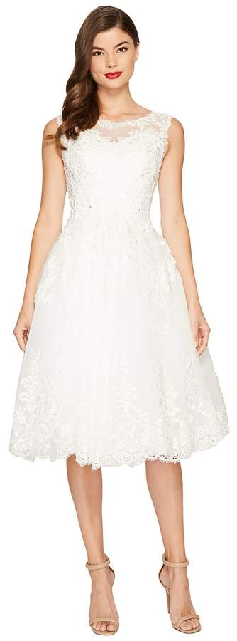 Unique Vintage Riviera Lace Tulle Bridal Dress Women's Dress