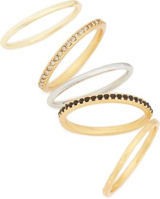 Madewell Filament Set of 5 Stacking Rings