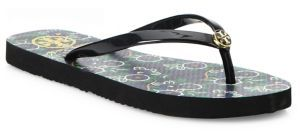 Tory Burch Printed Rubber Flip Flops $50 thestylecure.com