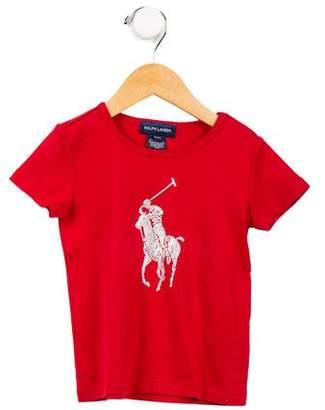 Ralph Lauren Girls' Graphic Print T-Shirt
