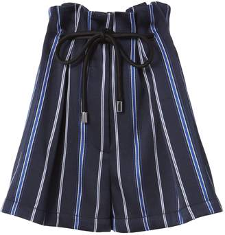3.1 Phillip Lim Striped Paperbag Waist Shorts
