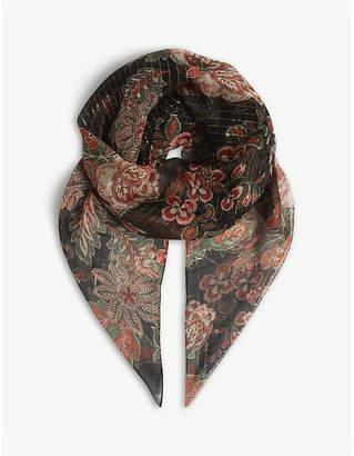 The Kooples Paisley silk scarf