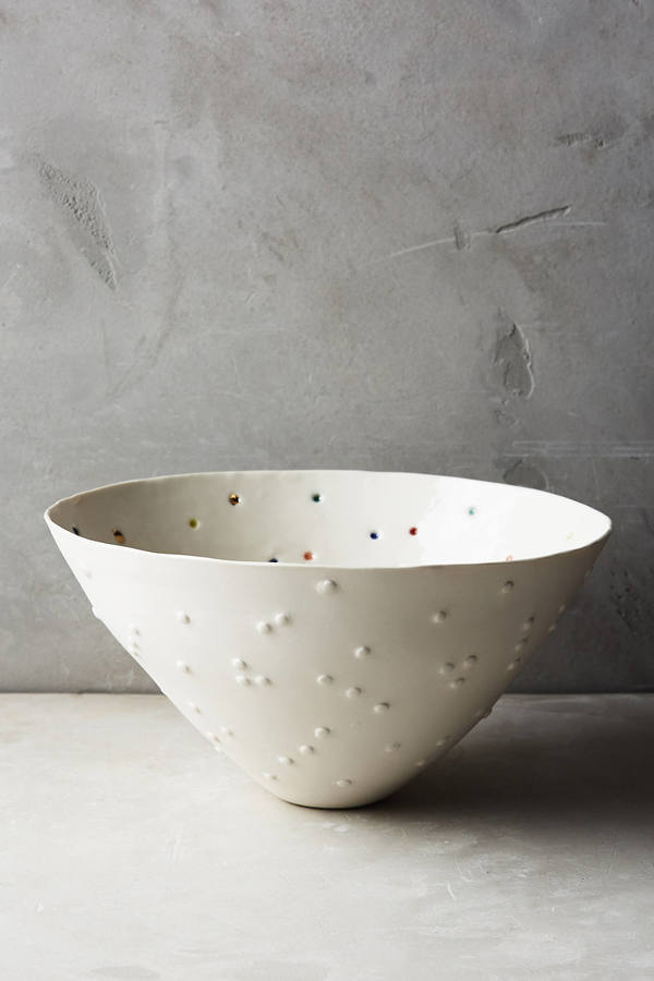 Anthropologie Anthropologie Confetti Dot Serving Bowl