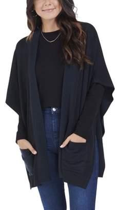 Fruit of the Loom Women's Brushed Fleece Blanket Cape Cardigan