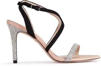 Reiss Medea Print Cross-Front Sandals