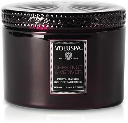 Voluspa 11 oz. Corta Maison Glass Candle, Chestnut & Vetiver