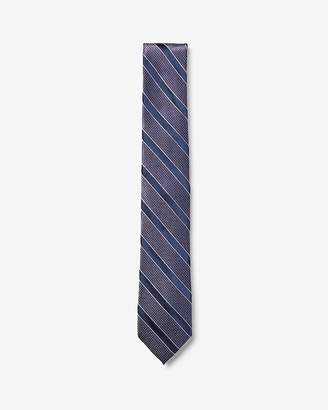 Express Narrow Striped Dot Tie