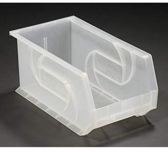 "clear Lewisbins LEWISBins PB148-7CLEAR Plastic Stacking Bin - 8-1/4""W x 14-3/4""D x 7""H, Clear, Lot of 12"