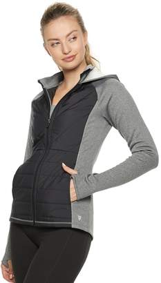 Fila Sport Women's SPORT Mixed-Media Hooded Jacket