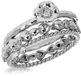 0dad6f83a429b ... N. Lily   Lotty Rhodium Plated 925 Sterling Silver Hand Set Diamond  Hattie Rope