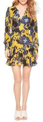 Parker Hayley Keyhole-Front Ruffle Mini Dress