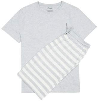 Burton Grey Marl Pyjama Shorts Set