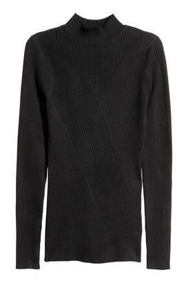 H&M Mock-turtleneck Sweater - Black - Women