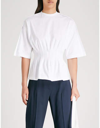 Sportmax Pola cropped tapered high-rise twill trousers