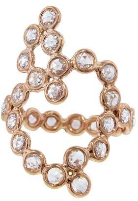 Lito Fine Jewelry Rose Cut Diamond Heart Ring - Rose Gold