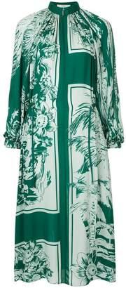 Tibi floral print midi dress