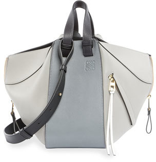 Loewe Hammock Small Calf Leather Tote Bag, Gray $2,350 thestylecure.com