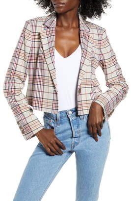 Leith Plaid Crop Jacket