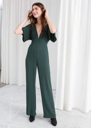 And other stories Plunging V-Cut Jumpsuit