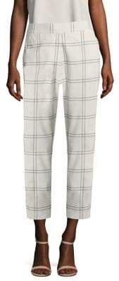 Piazza Sempione Knit Check-Print Pants