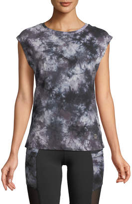 The Balance Collection Amber Tie-Dye Cap-Sleeve Tee