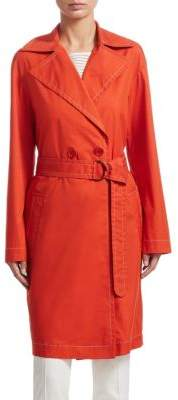Akris Punto Double-Breasted Trench Coat