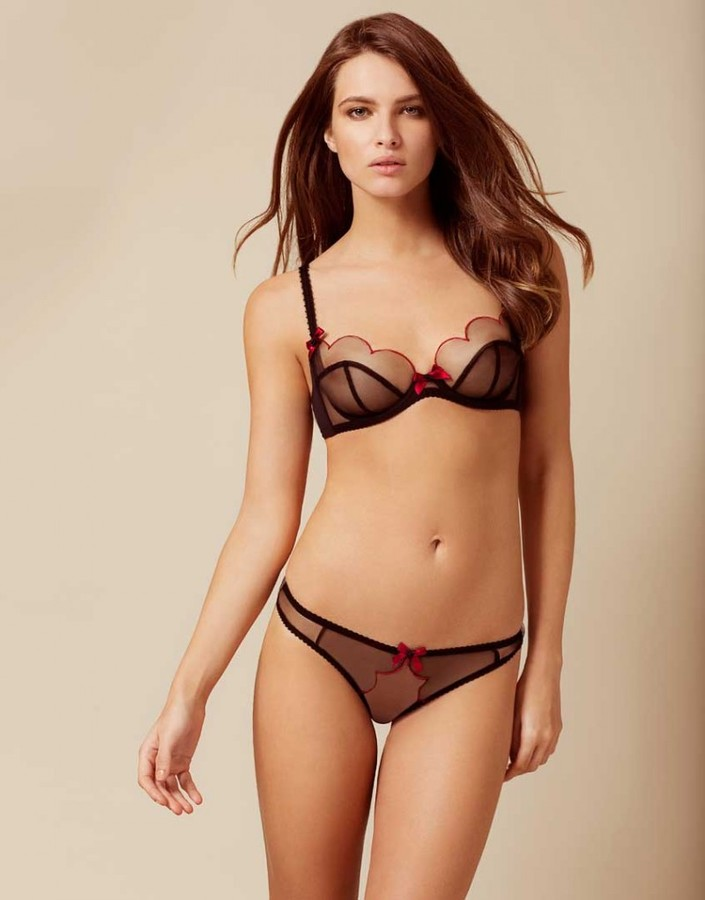 Agent ProvocateurLorna Brief Black and Red