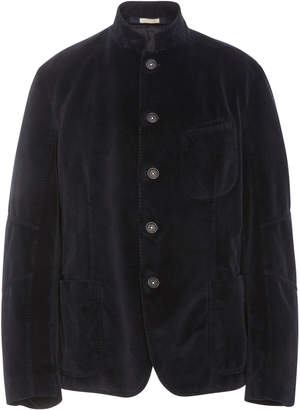 Massimo Alba Stand Collar Velvet Sports Jacket