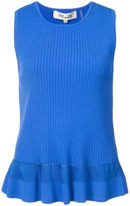 a817ca795b94f Diane von Furstenberg Blue Sleeveless Tops For Women - ShopStyle Canada