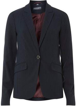 Dorothy Perkins Womens Navy Pinstriped Suit Jacket